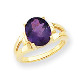 11x9mm Oval Amethyst ring 14k Gold Y4546AM