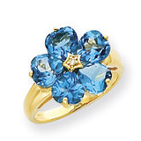 Diamond & Gemstone Ring Mounting 14k Gold Y4583
