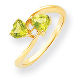 5mm Heart Peridot ring 14k Gold Y4584PE