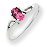 6x4mm Oval Pink Tourmaline ring 14k White Gold Y4649PT
