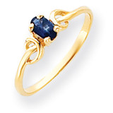 5x3mm Oval Sapphire ring 14k Gold Y4650S