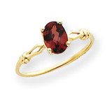7x5mm Oval Garnet ring 14k Gold Y4654GA