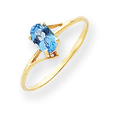 6x4mm Oval Blue Topaz ring 14k Gold Y4659BT