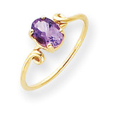 7x5mm Oval Amethyst ring 14k Gold Y4663AM