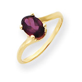7x5mm Oval Rhodolite Garnet ring 14k Gold Y4665RG