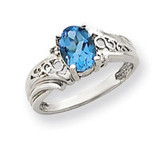 Diamond & Gemstone Ring Mounting 14k White Gold Y4684