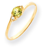 4mm Peridot Diamond ring 14k Gold Y4712PE/AA