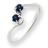 3mm Sapphire ring 14k White Gold Y4717S