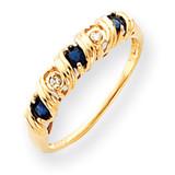 2.75mm Sapphire Diamond ring 14k Gold Y4718S/AA