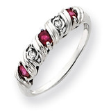 2.75mm Ruby Diamond ring 14k White Gold Y4719R/AA