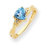 6mm Blue Topaz Diamond ring 14k Gold Y4732BT/AA
