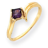 4mm Princess Cut Amethyst ring 14k Gold Y4781AM