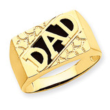 Dads Ring Mounting 14k Gold Y6125
