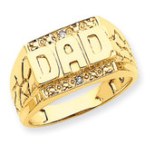 Dads Ring Mounting 14k Gold Y6127