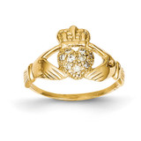 1 10ct Diamond Claddagh Ring 14k Gold Y6307AA