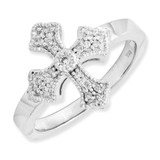 Diamond Fancy Ring 14k White Gold Y6601AA