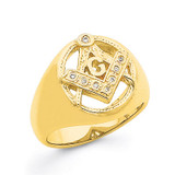 Men's Masonic Ring Mounting 14k Gold Y7232