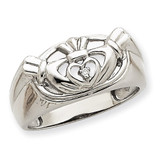 Men's Claddagh Band Mounting 14k White Gold Y7270