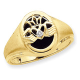 Mens Onyx & Dia Ring 14k Gold Y7272AA