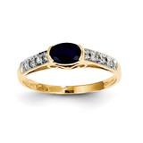 Sapphire & Diamond Ring 14k Gold Y8589S