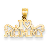 I Heart Mommy Pendant 14k Gold YC1080