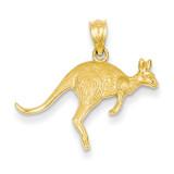 Textured Kangaroo Pendant 14k Gold YC1106