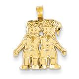 Boy Girl Charm 14k Gold YC19