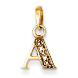 0.01ct Diamond Initial A Pendant 14k Gold Polished YC250A