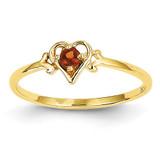 Genuine January Birthstone Heart Ring 14k Gold YC424