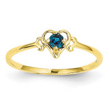 Created Alexandrite June Birthstone Heart Ring 14k Gold YC429