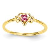 Genuine October Birthstone Heart Ring 14k Gold YC433