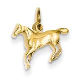 Horse Charm 14k Gold Polished YC440