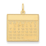 Monday the First Day Calendar Pendant 14k Gold YC462