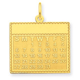 Tuesday the First Day Calendar Pendant 14k Gold YC463