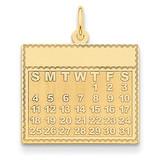 Thursday the First Day Calendar Pendant 14k Gold YC465