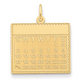 Friday the First Day Calendar Pendant 14k Gold YC466