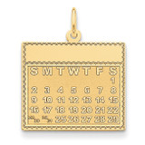 Saturday the First Day Calendar Pendant 14k Gold YC467