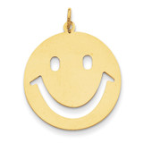 Smiley Face Charm 14k Gold YC491