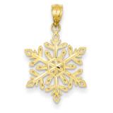 Diamond -Cut Snowflake Pendant 14k Gold YC494