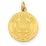 U.S. Army Insignia Disc Pendant 14k Gold YC499
