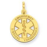 Small EMT Medical Charm 14k Gold YC506