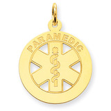 Medium Paramedic Medical Pendant 14k Gold YC516