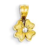 Small Flower Charm 14K Gold & Rhodium YC529