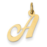 Small Fancy Script Initial A Charm 14k Gold YC650A