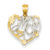 Rhodium Mom Pendant 14k Gold YC796