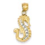 Diamond Seahorse Pendant 14k Gold YC839