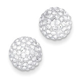 10mm Disco Ball Crystal Stud Earrings 14k Gold YE1449