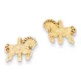 Carousel Horse Earrings 14k Gold YE16