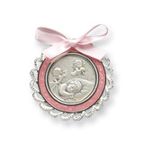Pink Crib Medal Sterling Silver MPN: GP5485