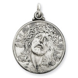 Ecce Homo Medal Antiqued Sterling Silver MPN: QC3443